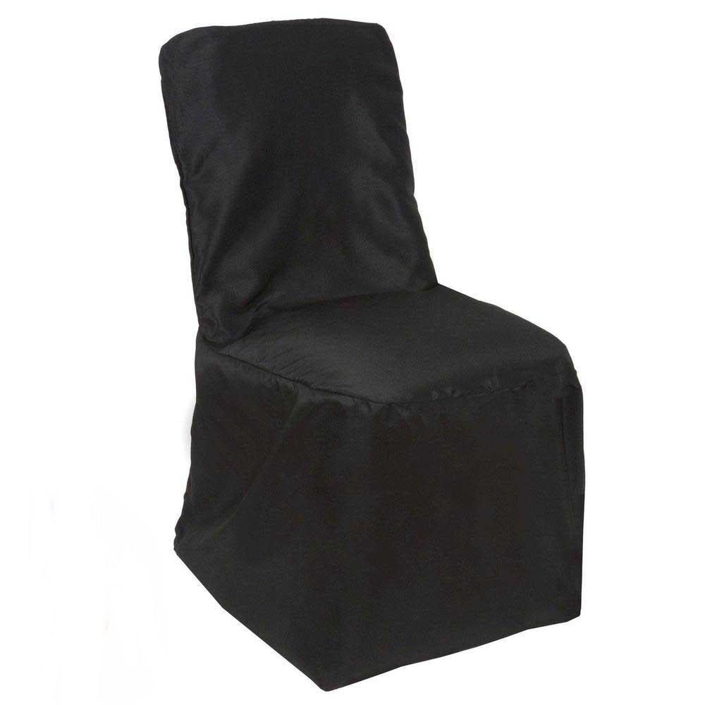 Superb Black Polyester Square Top Banquet Chair Covers Creativecarmelina Interior Chair Design Creativecarmelinacom
