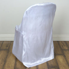 White Satin Folding Chair Covers