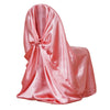 Rose Quartz Universal Satin Chair Covers[overlay]Fits over Banquet, Folding and Chiavari Style Chairs