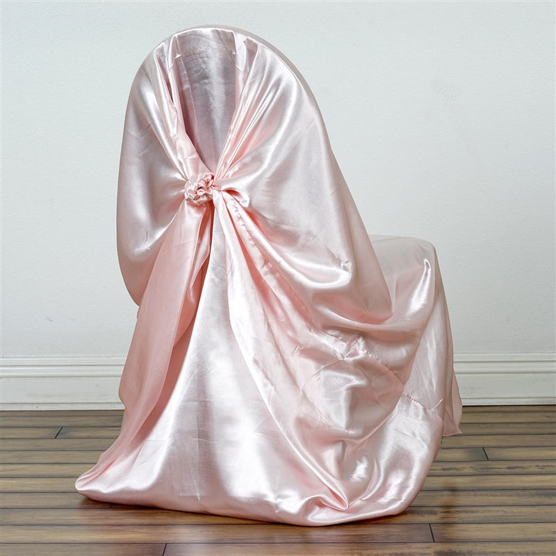 universal satin chair cover rose gold blush tablecloths factory