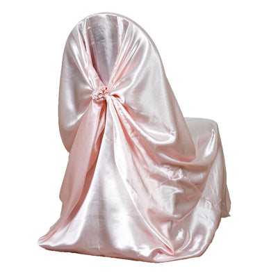 Rose Gold | Blush Universal Satin Chair Cover