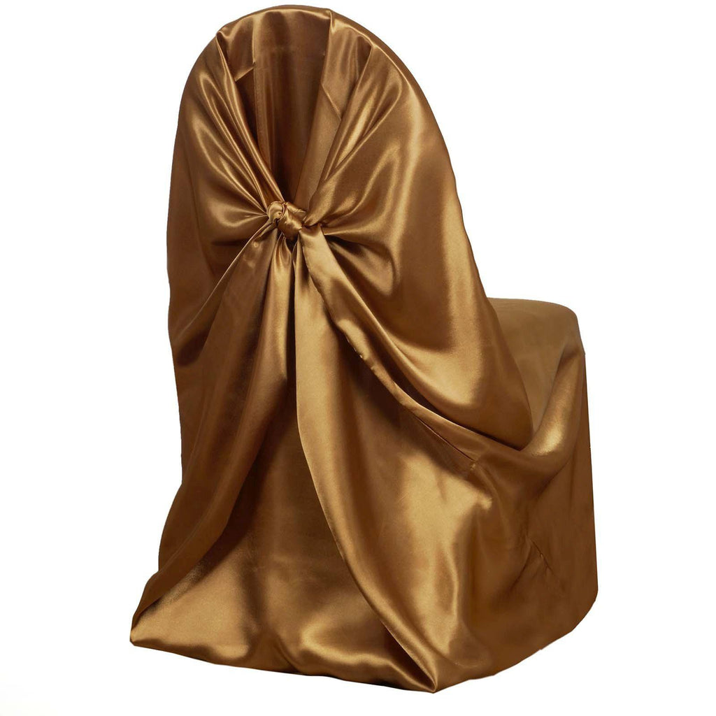 Gold Universal Satin Chair Cover Tablecloths Factory