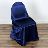 Navy Blue Universal Satin Chair Covers