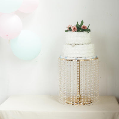 "16"" Tall Gold Cake Stand 