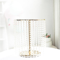 "14"" Round Metal Gold Wedding Cake Stand 