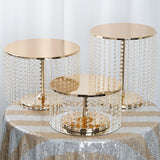 "12"" Tall Gold Cake Stand 