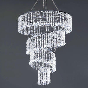 "Mordern Crystal Pendant lighting Diamond Chandelier - 18"" Diameter x 24"" Long"