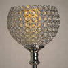 "37"" Tall Silver Crystal Acrylic Goblet Votive Candle Holder"