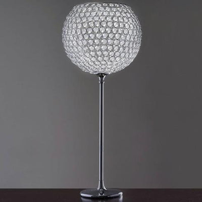 "41"" Tall Silver Crystal Acrylic Goblet Chandelier With 18"" Ball"