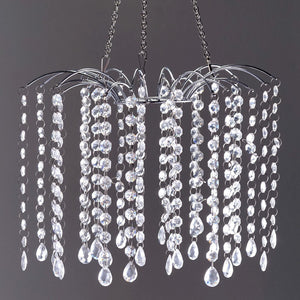 "Wedding Crystal Pendant Lighting Chandelier - 24"" Tall"