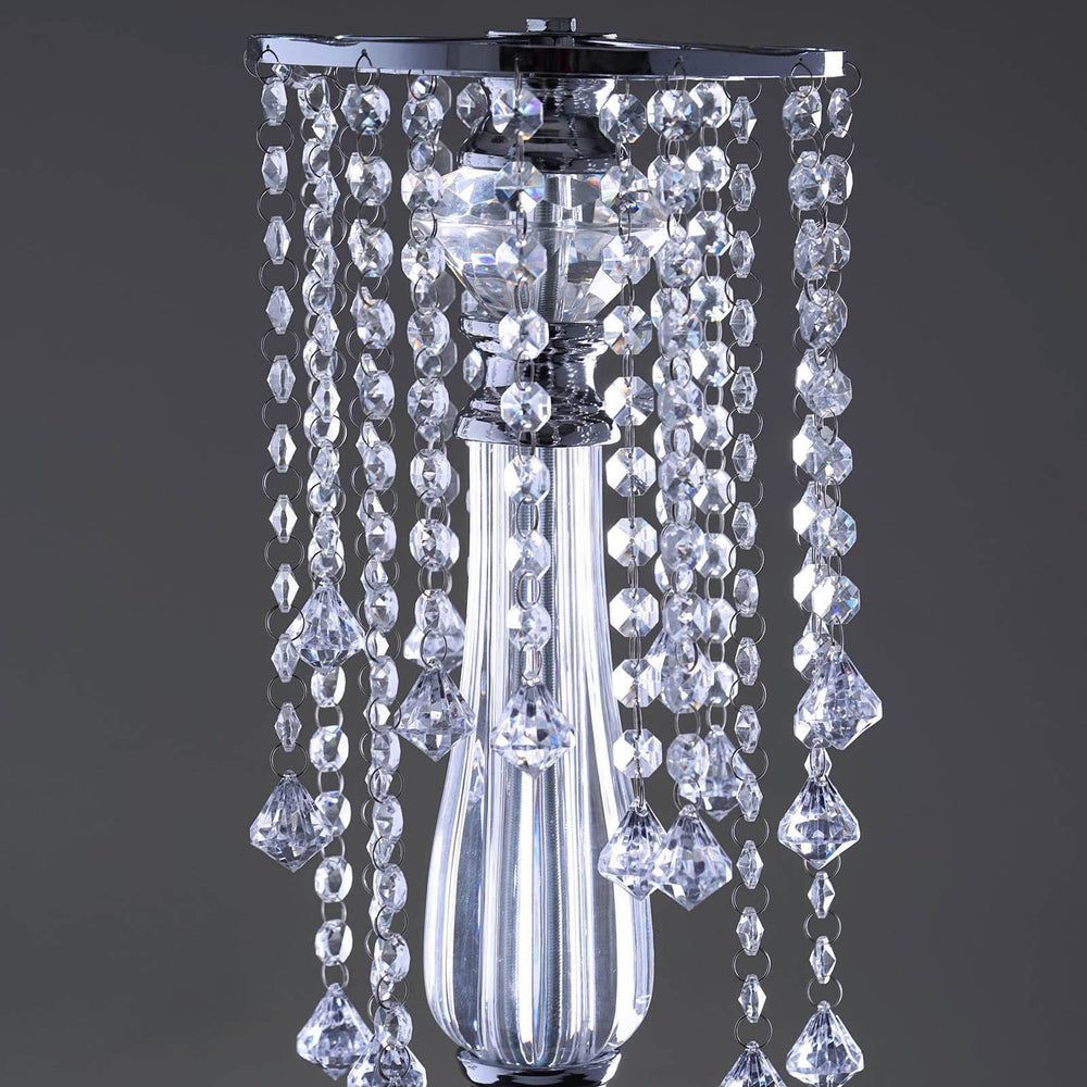 Flower Stand Diamond Crystal Chandelier Wedding Centerpiece 28