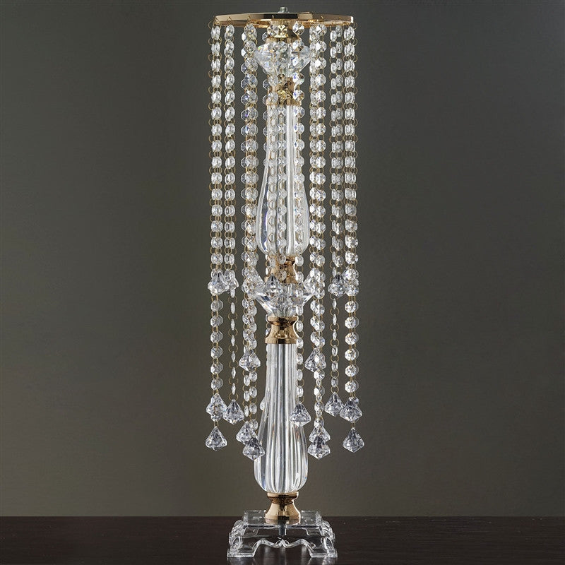 19 Hanging Crystals With Large Teardrops Diamond Crystal Chandelier Wedding Centerpiece Gold 28 Tall