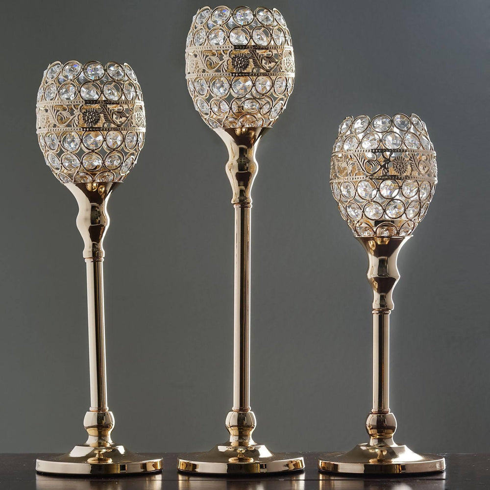 16 tall crystal beaded candle holder goblet votive tealight 16 tall crystal beaded candle holder goblet votive tealight wedding chandelier centerpiece gold arubaitofo Choice Image