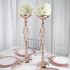 "2 Pack | 26"" Rose Gold Reversible Votive Candle Holder Flower Ball Stand"