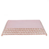 15 inch Blush | Rose Gold Flat Crystal Beaded Metal Cake Stand