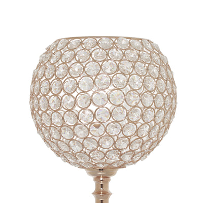 "30"" Gold Acrylic Crystal Goblet Candle Holder Flower Ball Stand"