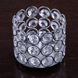 "3"" Tall Silver Votive Tealight Crystal Candle Holder"
