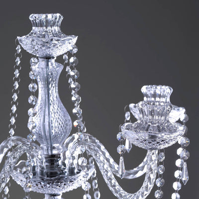 "Stunning Candelabra  Candlestick Crystal Candle Holder Wedding Centerpiece - 35"" Tall"