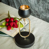 "2 Pack 11"" Matte Black/Gold Metal Candle Holder Chandelier Stands"