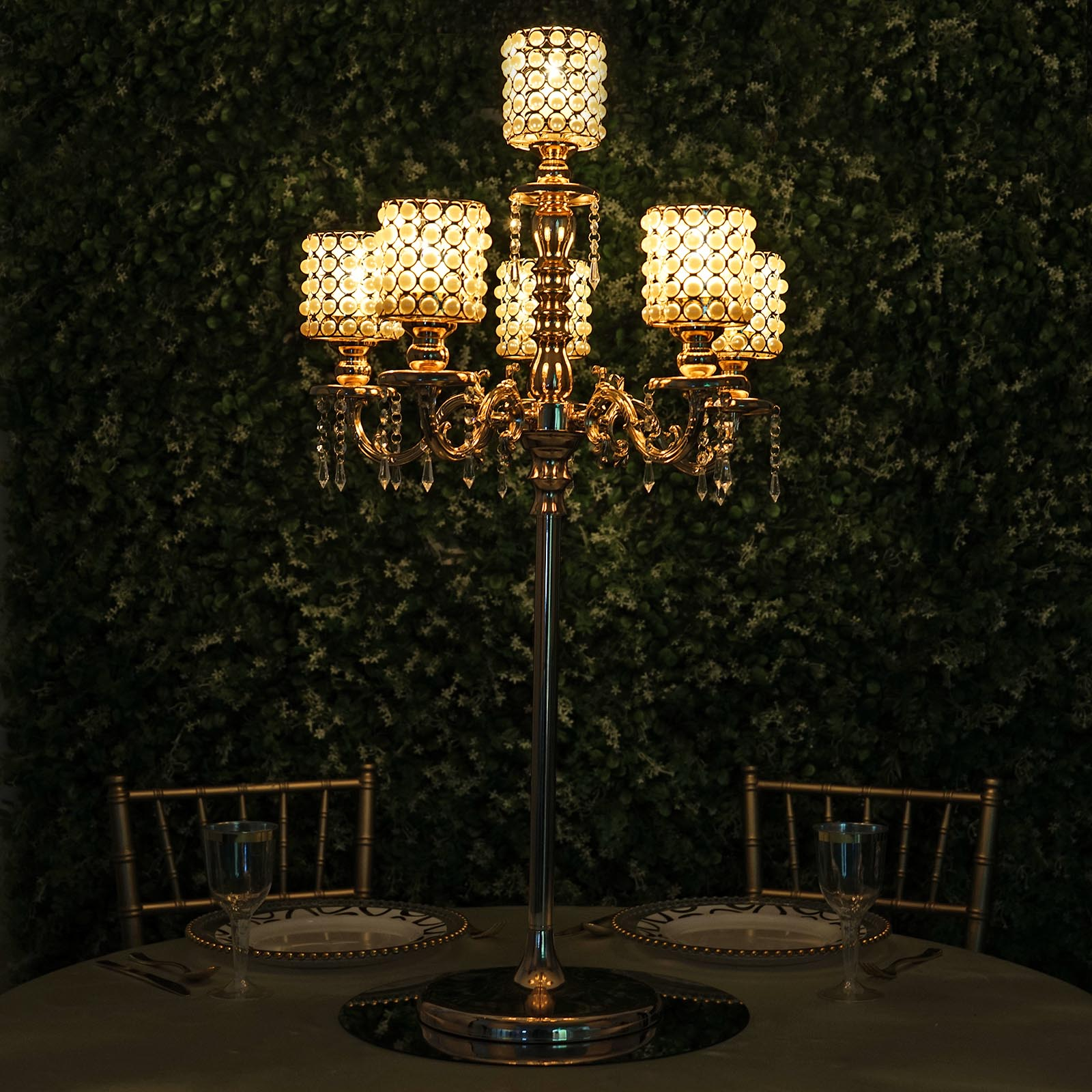 How To Make A Crystal Chandelier Centerpiece With Lights