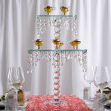 "21"" Gemcut Handcrafted Glass Chandelier Crystal Cake Riser Stand - 1pcs"