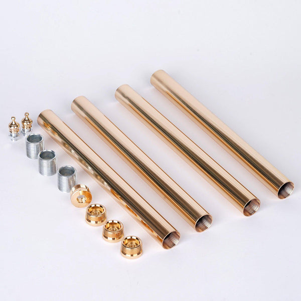 4 Pcs Gold Chandelier Lamp Poles