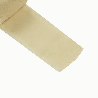 Set of 2 Champagne Chiffon Ribbon Rolls For Bouquets, Wedding Invitations & Gift Wrapping