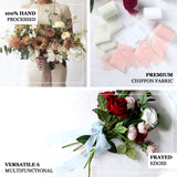 "1.5"" x 6Yard - Set of 2 White Chiffon Ribbon Rolls For Bouquets, Wedding Invitations & Gift Wrapping"