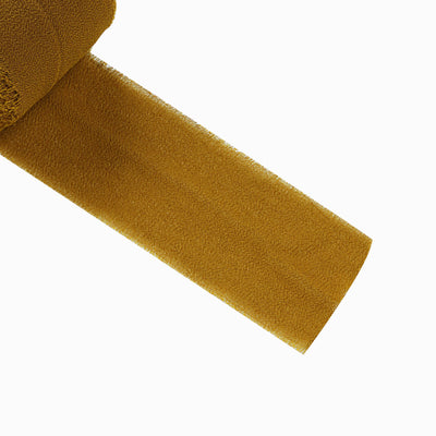 Set of 2 Gold Chiffon Ribbon Rolls For Bouquets, Wedding Invitations & Gift Wrapping