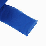 2 Pack | 6Yards Royal Blue Chiffon Ribbon Roll For Bouquets, Wedding Invitations & Gift Wrapping
