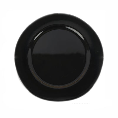"Pack of 6 |13"" Round Black Acrylic Charger Plates"