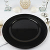 6 Pack | 13inch Round Black Acrylic Charger Plates