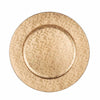 "6 Pack | 13"" Round Gold Mosaic Acrylic Plastic Charger Plates"