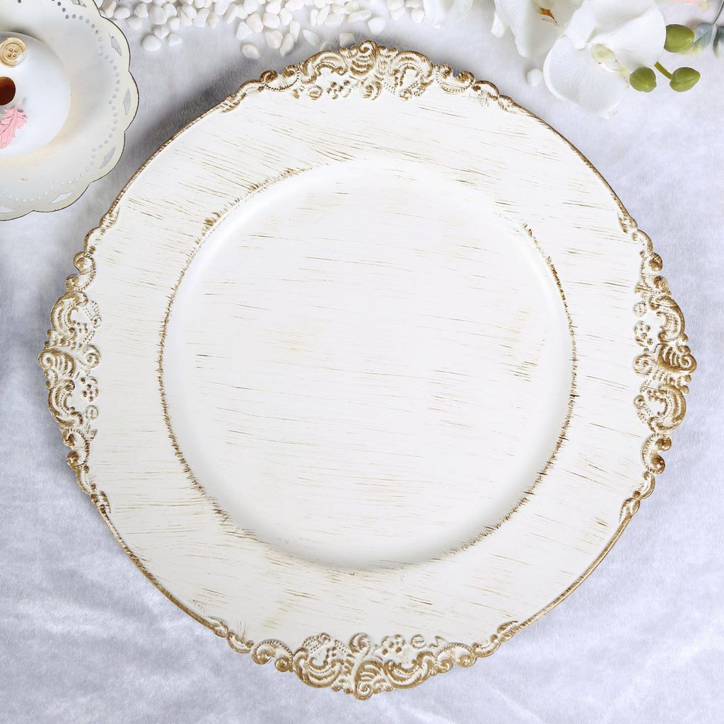 Baroque Charger Plates Acrylic Charger Plates Tableclothsfactory