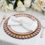 2 Pack 13 inch Gold Mirror Glass Charger Plates with Glitter Jeweled Rim