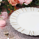 Scalloped Rim Plastic Charger Plates, Dinner Plate Chargers