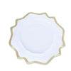 6 Pack | 13 Round Clear Plastic Charger Plates with Gold Scalloped Edge#whtbkgd#whtbkgd