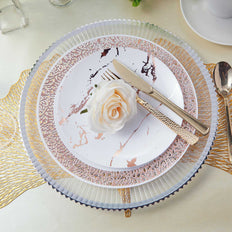 Clear Plastic Charger Plates, Wedding Plates