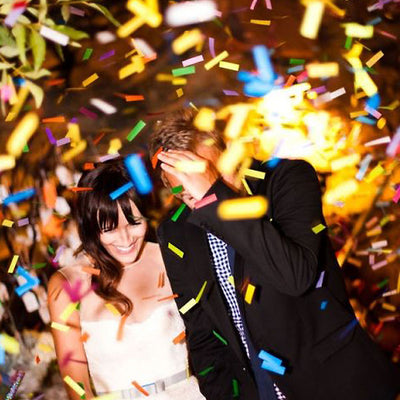 300 PCS Gold Metallic Foil Just Married Confetti