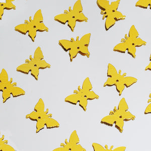 Metallic Foil Wedding-Party Butterfly Confetti - 300 PCS- Gold