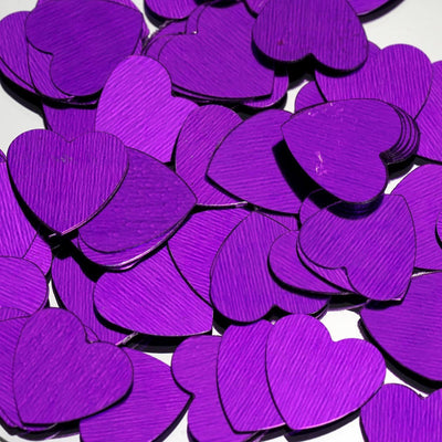 Dreamy Metallic Foil Wedding-Party Heart Confetti Sprinkles- 300 PCS-Purple