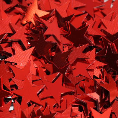 Twinkling Metallic Foil Wedding-Party Star Confetti Sprinkles-300 PCS-Red
