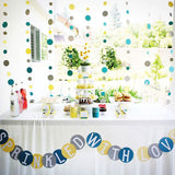 300 PCS Blue Metallic Foil Baby Shower Confetti