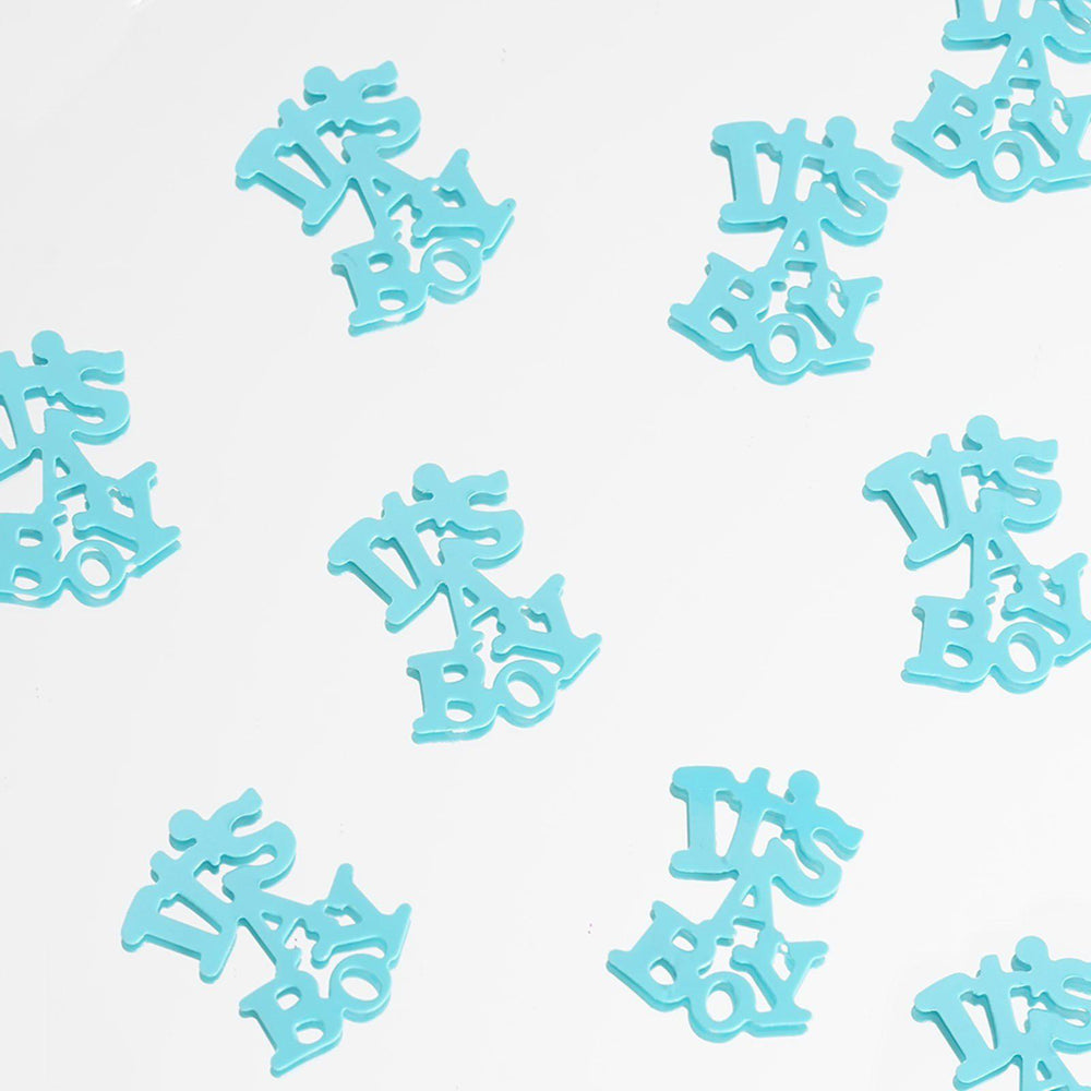 Metallic Foil Baby Shower Confetti 300PCS Blue ...