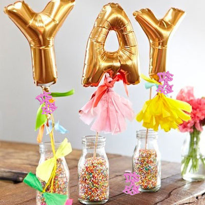 300 PCS Pink Metallic Foil Baby Shower Confetti