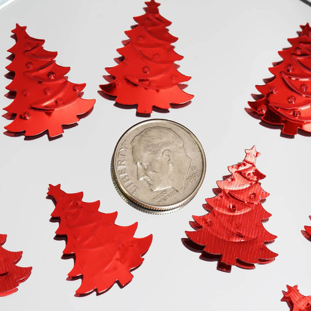 Foil Christmas Tree.300 Pack Red Metallic Foil Christmas Tree Confetti Clearance Sale