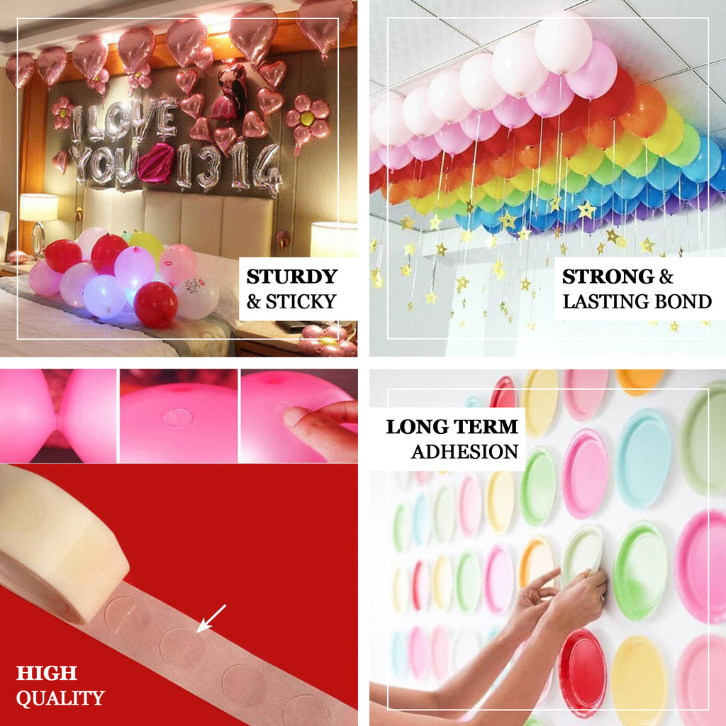 Double Sided  100 Dots Strong Adhesive Tape Sticky For Balloon Party Decor Nice