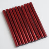 "10 Pack | 7mm x 4"" Red Glitter Hot Melt Glue Sticks"