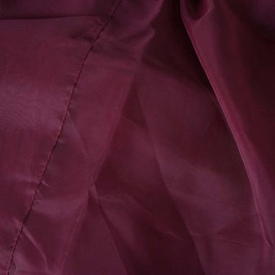 2 Pack | 5FTx10FT Burgundy Fire Retardant Sheer Organza Premium Curtain Panel Backdrops With Rod Pockets