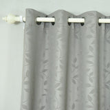 "2 Pack | 52""x108"" Charcoal Grey Embossed Thermal Blackout Curtains With Chrome Grommet Window Treatment Panels"